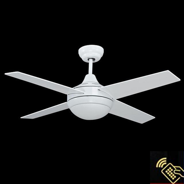 Whole White Ceiling Fans European Simple Fan Lights Led Remote Control Lamp