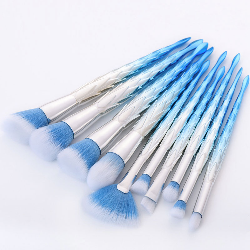 GUJHUI 10pcs High Quality Unicorn Diamond Makeup Brushes Set Professional Facial Foundation Eyeshadow Cosmetic Makeup Brush Kit original papst typ 4650n ac 230v 12cm 120mm 120 120 38mm cae axial cooling fan