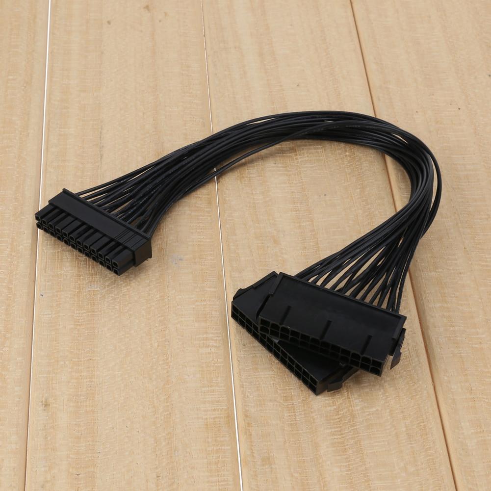 Vakind 30 см 24pin ATX двойной PSU Мощность Extender кабель для добычи Bitcoin строит и двойной PSU игр