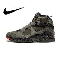 Оригинальная продукция Nike Air Jordan 8 Ретро «Take Flight» Мужская дышащая Баскетбольная обувь спортивные кроссовки уличные спортивные дизайнерские