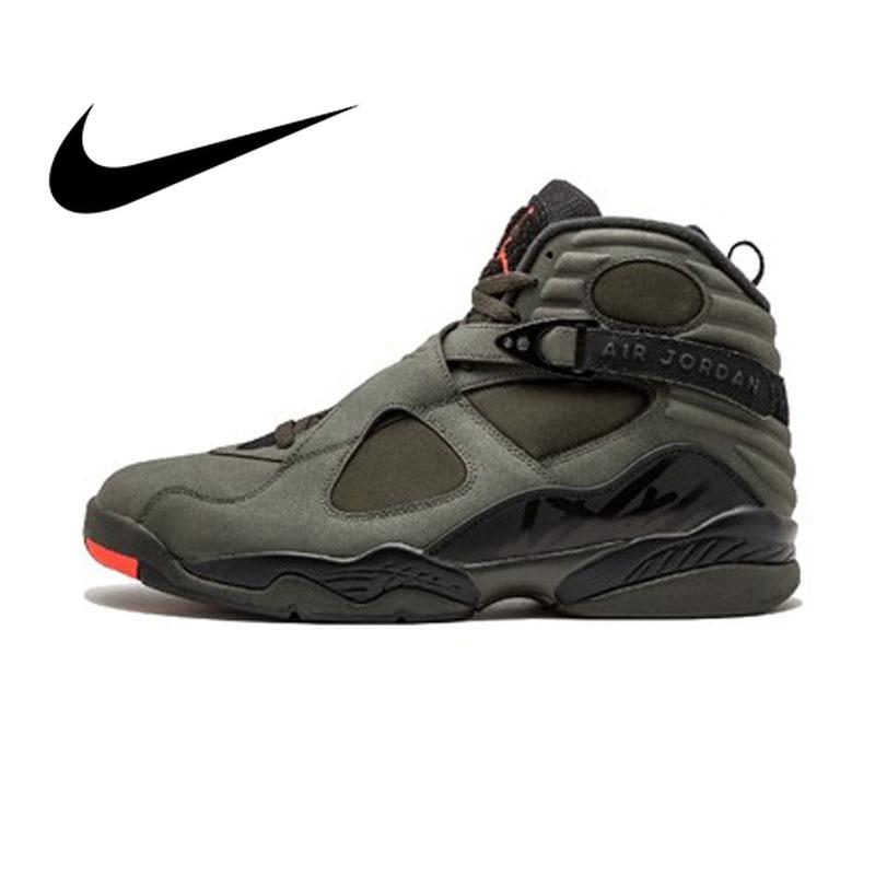 Original NIKE Air Jordan 8 Retro 'Take Flight' Men's Breathable Basketball Shoes Sport Sneakers Outdoor Athletic Designer