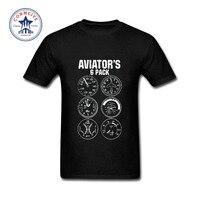 2017 Fashion Summer Style Aviator Six Pack Funny Pilot Travel Humor Vacation Flight Novelty Cotton T