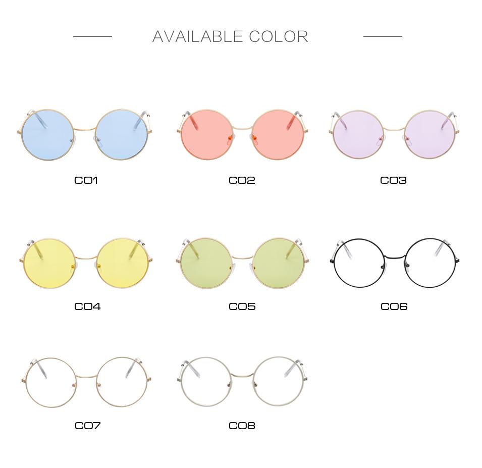 Women's Round Mirror Sunglasses 9