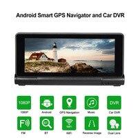 KKmoon Car DVR Dual Lens Dash Cam 7 1080P Car Camera Android Smart System 16GB Flash