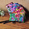 Старинные Вышивки Ручной Работы Мода Vintage Женщины Сумка Мелкая Монета Кошельки небольшой Бумажник Этнические Сумки Вышивка Сцепления