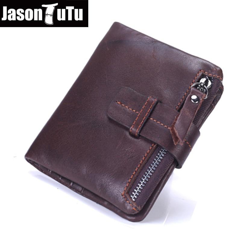 c52e15ee6 JASON TUTU Genuine Leather Men Wallet Male Coin Purse Good quality Cow  Leather mini Wallets money bag 2017 Cool carteira FB4054