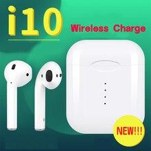 Оригинальные беспроводные наушники i10 Tws Bluetooth 5,0 беспроводные наушники для зарядки i 10 Tws сенсорные наушники для iphone Xiaomi