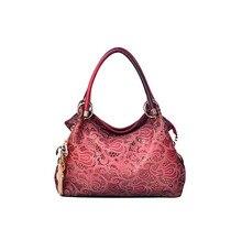 Plus réel Marque designer sac à main femme en cuir PU évider sacs sacs à main couleur gradient gland sac dames sac à bandoulière portable