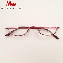 MEESHOW – lunettes de lecture pour hommes et femmes, à demi-jante, avec charnières à ressort en métal, presbytie, élégantes, + 1.75 + 2.25 + 3.5 340