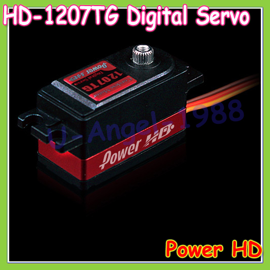 1pcs 100% Original Power HD HD-1207TG Standard Low Profile Digital Coreless High Speed Servo power hd 3689mg high speed servo for 500 helicopter black red