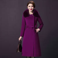 Autumn Women Wool Coat 2018 New Style Winter Pure Color Double breasted And Xxxxl Designs Female Simple Fashion Thickened Tops