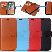 Splice 2 in 1 Flip Leather Wallet Phone Soft Silicone Case Plain Cover Shell for Samsung Galaxy S5 S6 S7 Edge S8 S9 Plus Note 8 2 in 1 leather wallet case for samsung s9 s8 s7 s6 edge plus note 8 9 4 5 phone panel adsorption bracket photo frame slot flip