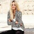 2016 Новый Leopard Женщины Зима Пиджак И Куртка С Длинным Рукавом Тонкий Осень Зима Blazer Женщин Пиджаки Пальто Blaser Feminino