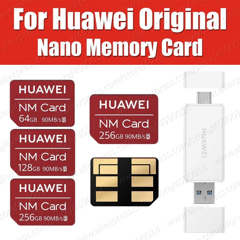 90 MB/s Original Huawei NM Cartão Nano 64 GB/128 GB/256 GB Aplicar para Huawei P30 Pro mate20 Pro Mate20 X 5G Com Leitor de Cartão USB3.1