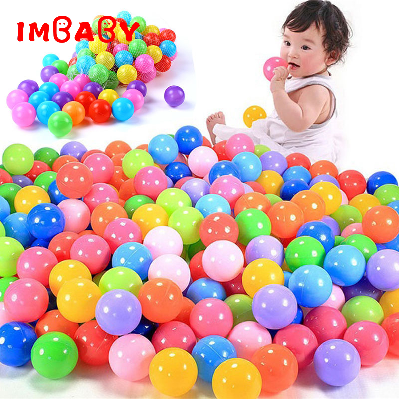 100/200pcs 5.5cm Balls Pool Balls Soft Plastic Ocean Ball For Playpen Colorful Soft Stress Air Juggling balls Sensory Baby Toy(China)