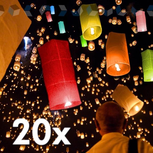 30PCS Holiday Sky Lanterns Bag wishing ~ Lanterns Valentine Birthday lamps