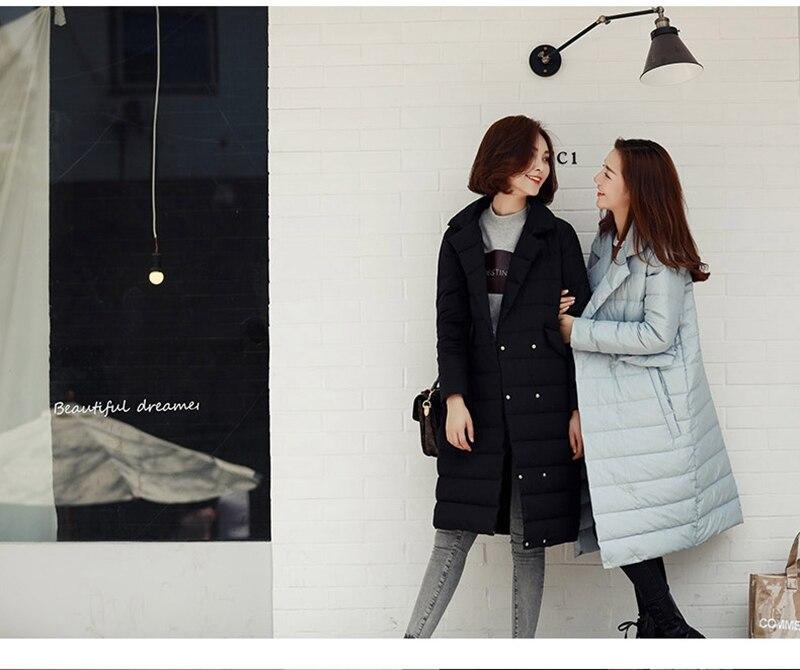 Black Duvet Canard Femmes Tournent Feminina Bas grey Dames Parka Veste Coréenne Vers Longue Manteau De Ja613 2016 Nouveau Le Élégantes Jaqueta D'hiver Mode C5qv1