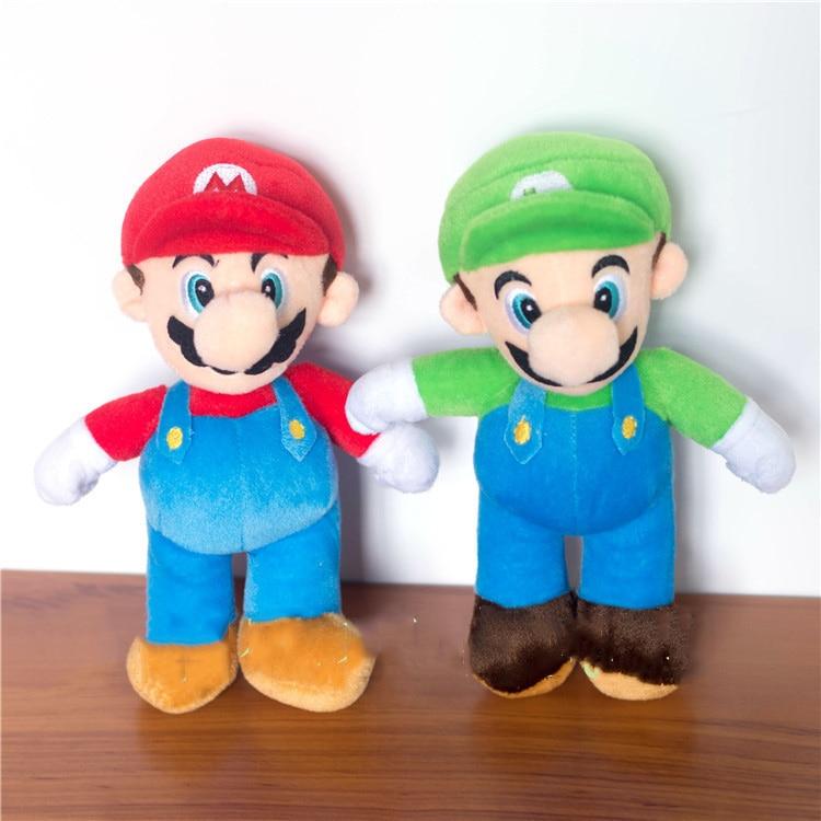 25cm Super Mario Bros Plush Toys Mario Lugi Stuffed Dolls ...