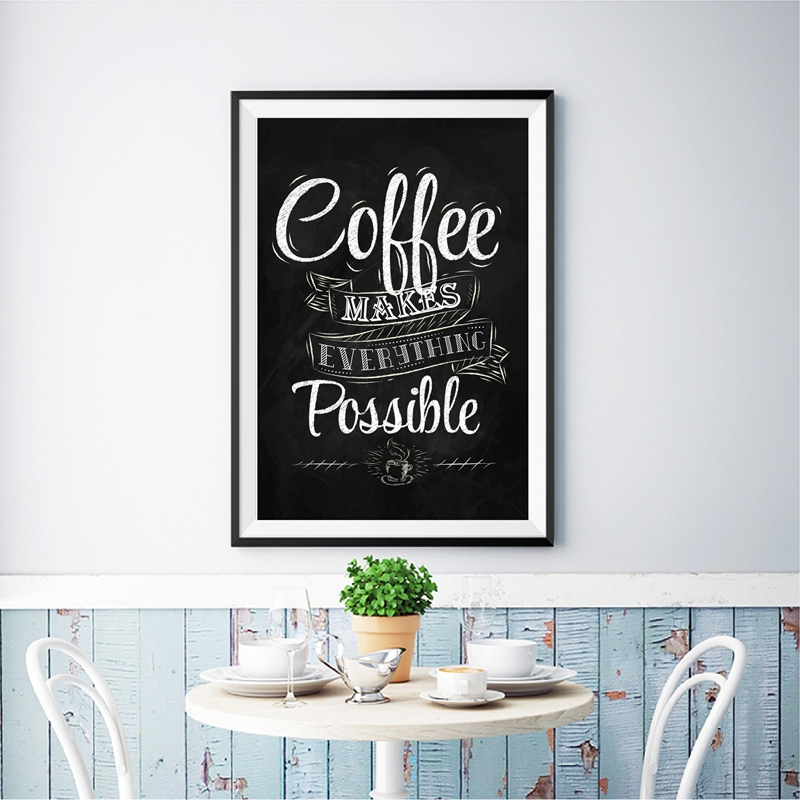 Cafe Wall Art Retro Poster Decor