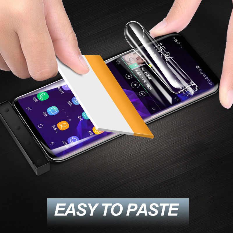9D كامل غطاء واقي للشاشة فيلم لسامسونج غالاكسي S6 S7 حافة S9 S8 زائد ملاحظة 8 9 لينة طبقة رقيقة واقية (لا الزجاج المقسى)