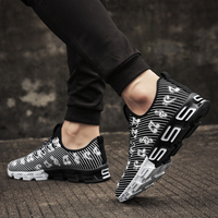 Joomra New Listing Men's Runing Shoes Stripe Music Note Outdoor Sport Shoes New Design S sole Trainer Workout Sneakers for men 3