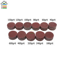 110PC 40-600 Grit 1 inch 25mm Sanding Sander Discs Sandpaper Abrasive Tools For Dremel 4000 Accessories Grinder For Polishing