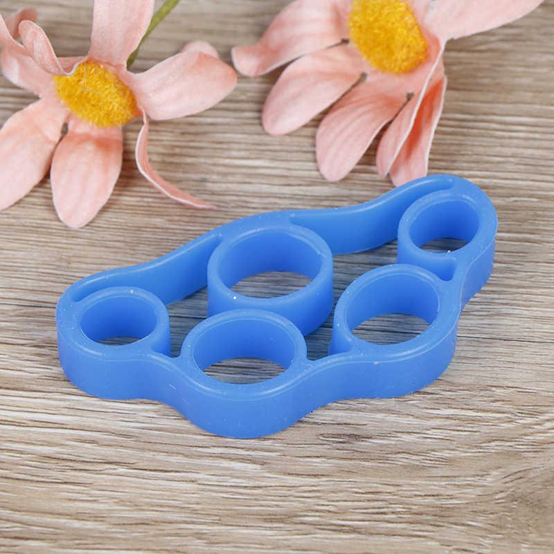 1 sztuk silikonowy palec chwytak wytrzymałość trener odporność kompania ręki chwyta na nadgarstek joga nosze Finger Expander ćwiczenia 7 kolory