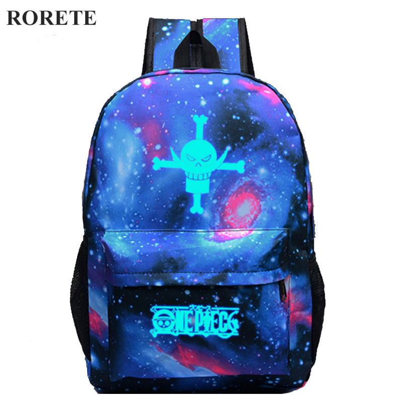 Fashion Luminous Printing Backpack Glow bags Teenage Girls Bookbags Vintage Laptop Backpacks portfolio school for teenagers