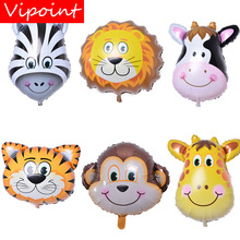 VIPOINT PARTY monkey lion cow tiger deer Zebra bee foil balloons wedding event christmas halloween festival birthday party FD-10 цена