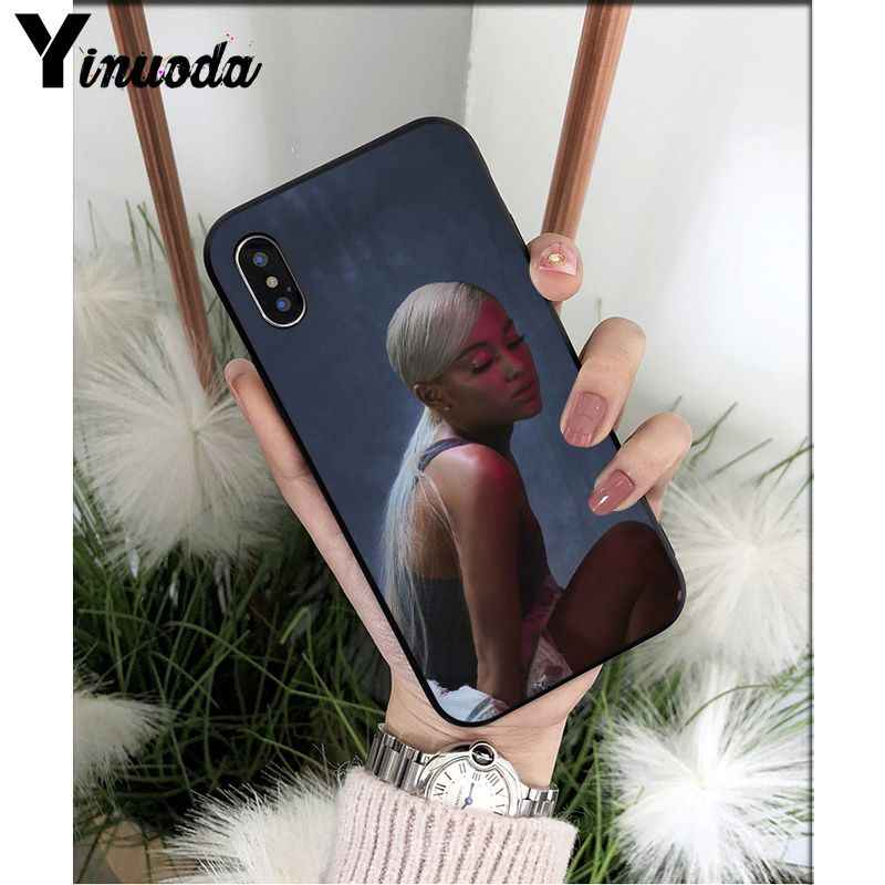 Yinuoda No Tears ซ้าย To Cry ariana grande Tpu สีดำสำหรับ iPhone 8 7 6 6S plus 5 5S SE XR X XS MAX Coque Shell