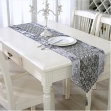 1 Pcs Polyester Table Runner 33*210 One Size Europe Gary Wirte Add Rain  Stone And The Flower Suit Home Paty Wedding Table Runner