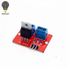 0-24V Top Mosfet Button IRF520 MOS Driver Module For Arduino MCU ARM Raspberry pi(China)
