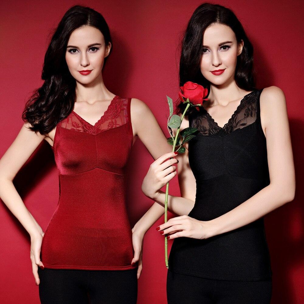 The new explosion of fashion deep V Velvet high grade warm vest deep V plus chest