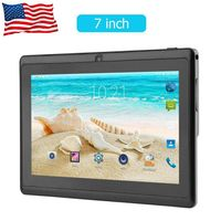 High Quality 7 inch Quad core wifi Tablet PC 512M+4G Q88 Android Tablets with UK/US/AU Power Supply Adapter sz