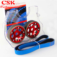 Timing Belt + Cam Cover + Cam Gear Pulley Kit Fits For Toyota 1JZGTE 1JZ GTE 88 92 Blue/Purple/Red
