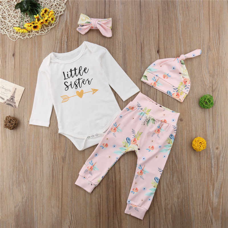 5575f7f49298 ... Big/Little Sister's Matching Clothes Set Cute Newborn Baby Girls Sister  Romper/Big Sister