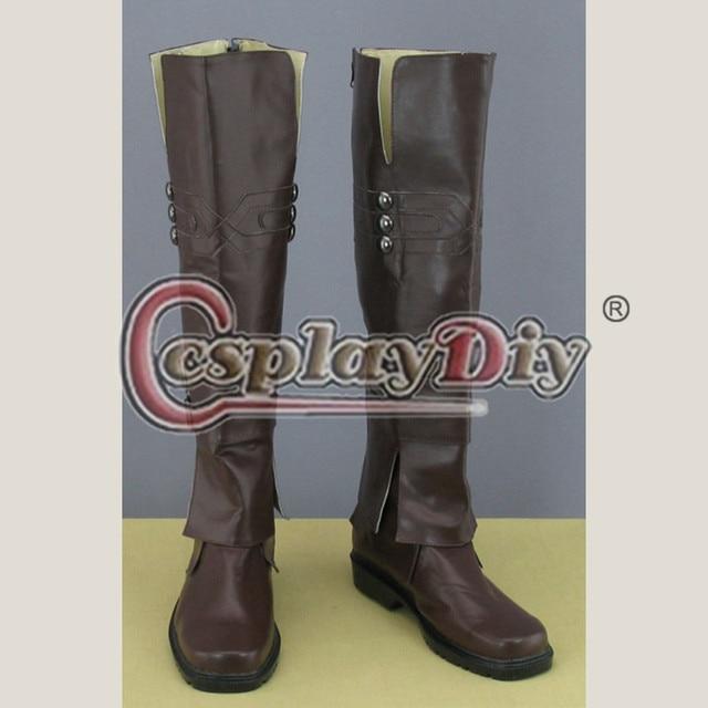 Assassins Creed por encargo botas para el adulto hombres mujeres zapatos de Cosplay D0924