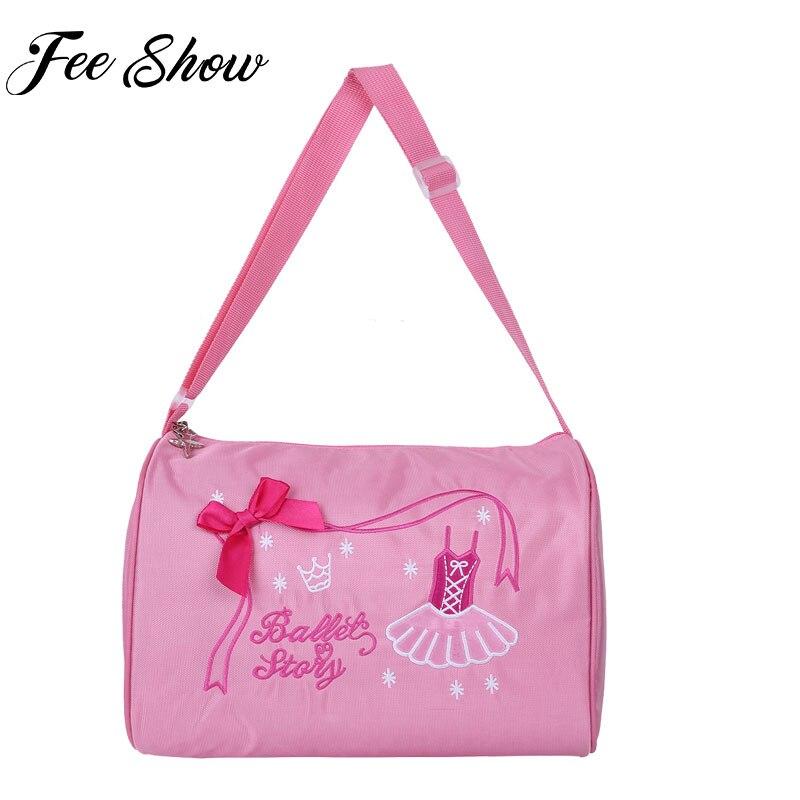 68ff8f363201 FEESHOW Kids Ballet Dance Bag Pink lovely Shoulder Ballerina Dance Bags Kids  Handbag Gym Bags For Child Girls with Zipper