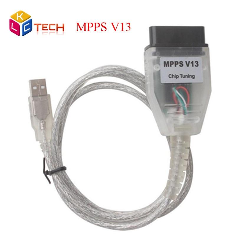 Prix pour Meilleur Vente SMPS MPPS V13 K PEUT Flasher SIPM V13.02 ECU Chip Tuning Outil OBD2 Diagnostique Professionnel Câble