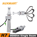 Auxmart H7 Car LED Headlight Kit CSP CREE Chips 72W/Set 8000lm Copper Cooling Belt Fog Light Head Lamp For VW Honda Toyota