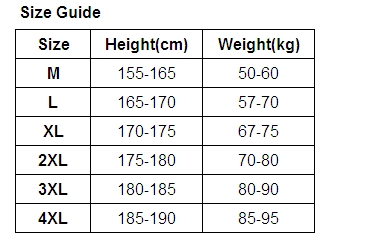 size guide 7005