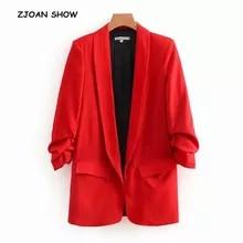 Casaco de blazer feminino estilo casual, jaqueta de cor sólida, com bainha, blazer longo com forro e gola xale