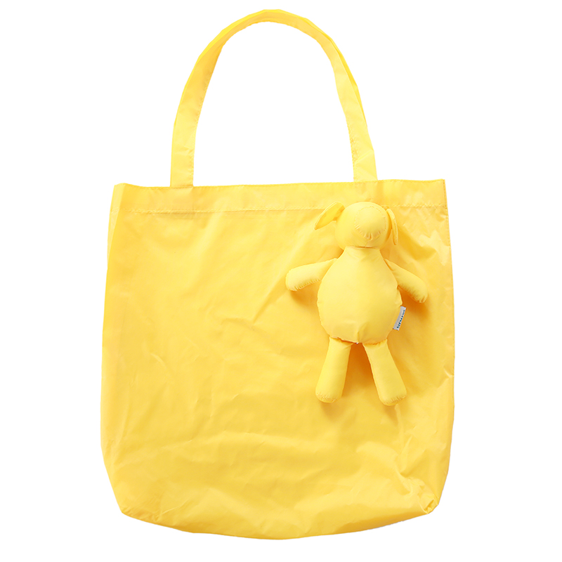 Yellow Eco Kids Animal Reusable Portable Should Pocket Square Shopping Bag bolsa reutilizable Grocery Fold Bag in Shopping Bags from Luggage Bags