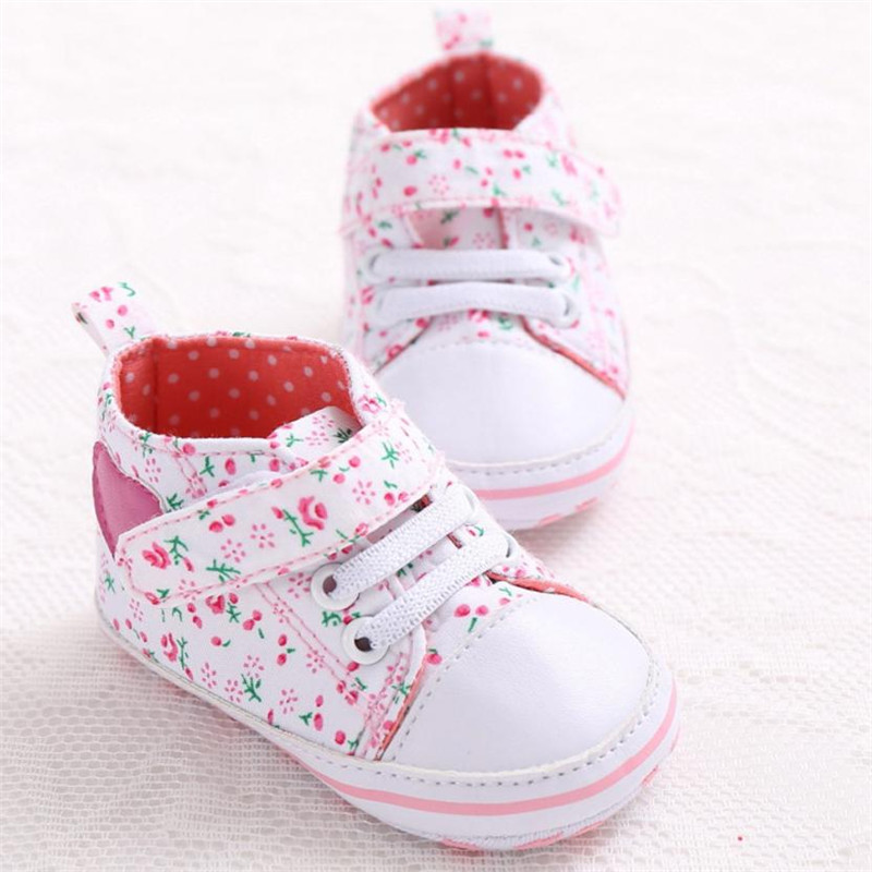 Shoes Sneakers Soft-Sole Canvas Anti-Slip Heart-Shape Toddler Baby Tenis Calcados