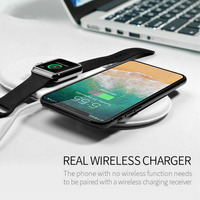 Fast Qi Anti skid Wireless Charger Desktop Station Stable 3 In 1 Portable Accessory Office Bedside Watch Earphone For IPhone X