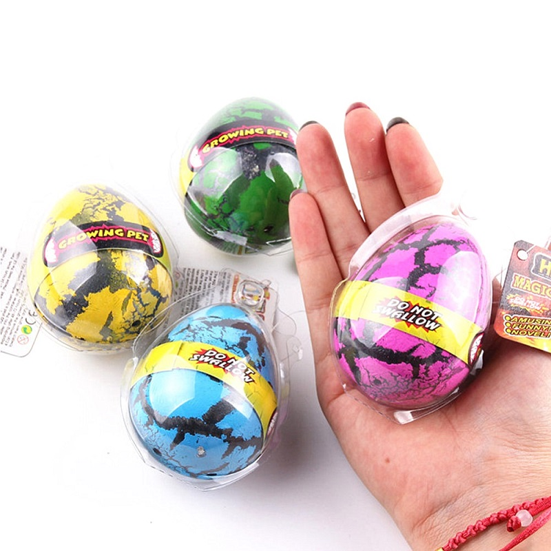 4pcs Dinosaur Eggs Hatch in Water Novelty Toys