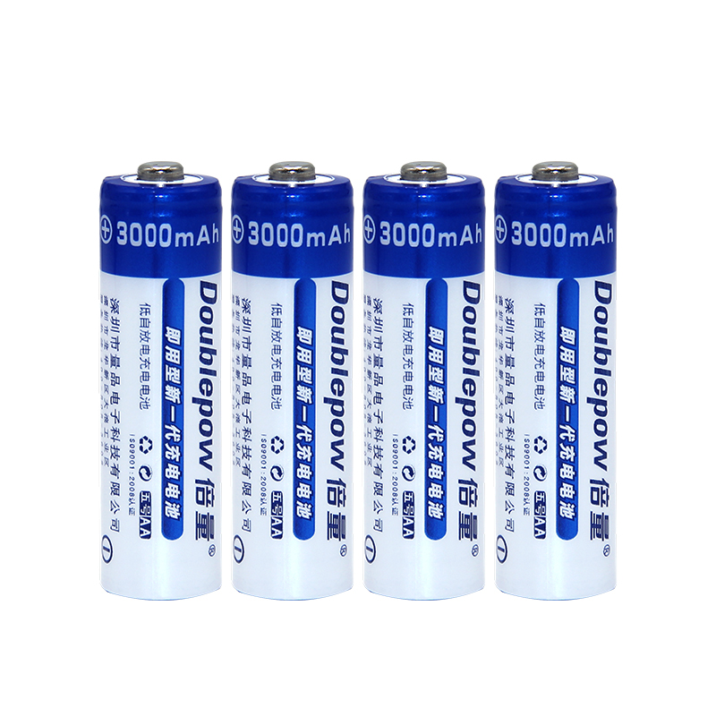 AA Batteries NI-MH 3000mAh 1.2V 4pcsAA Rechargeable Batteries 2A Bateria Baterias or Remote Controller/Electric Shaver/Radio/Toy