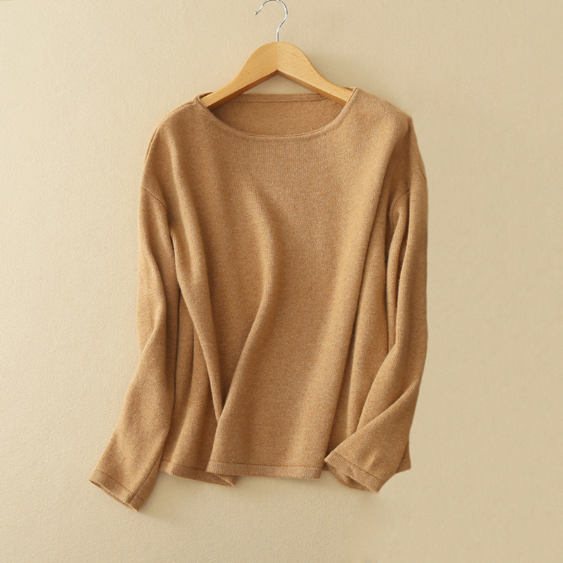 Women's Sweater Pullover 2017 100% Cashmere Knit Red/orange/navy Blue/camel Color Thick Sweaters With O-neck Long Sleeves