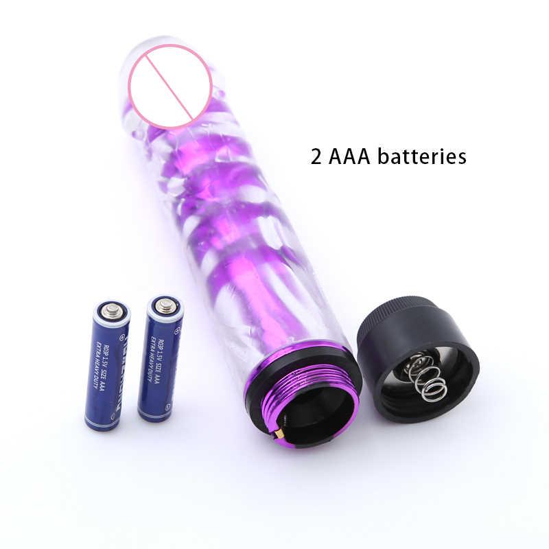 Vibrator G Spot Kuat Jelly Dildo Massager Mainan Seks Vibrator Peluru untuk Wanita Seks Mainan Seks Dewasa Produk untuk wanita
