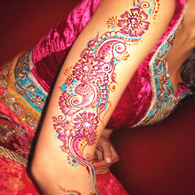 Nu-TATY 25g Indian Glitter Red Body Paint Henna Tattoo Mehndi Temporary Flash Tattoo Art Makeup Summer Henna Tatuagem